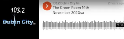 Cathy was interviewed about 'Why Ecoliteracy Matters for the Creative sector', with Megan Best, Green Room Dublin City FM