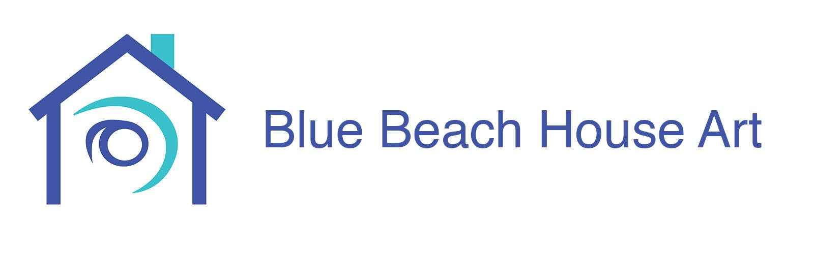 Blue Beach House Art Logo
