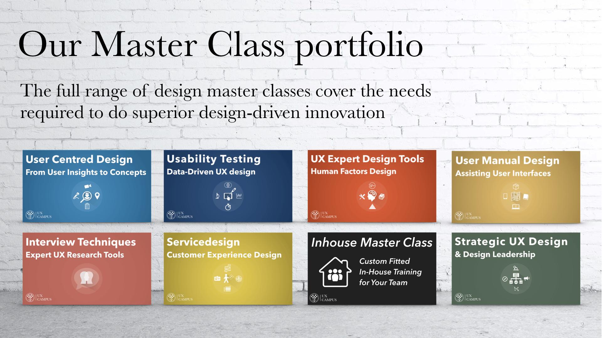 UX Campus Live Master Classes