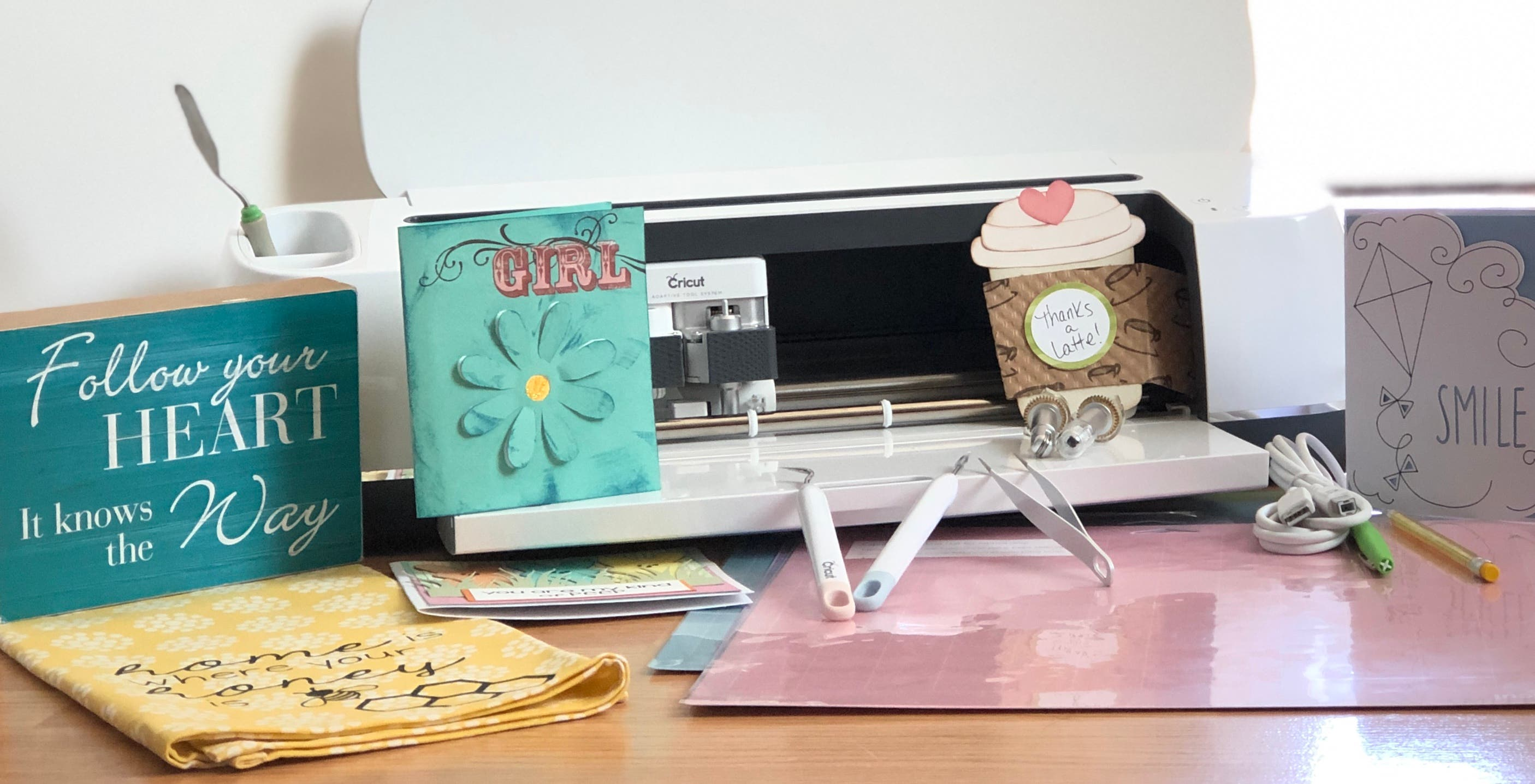 cards and cricut tools with cricut machine