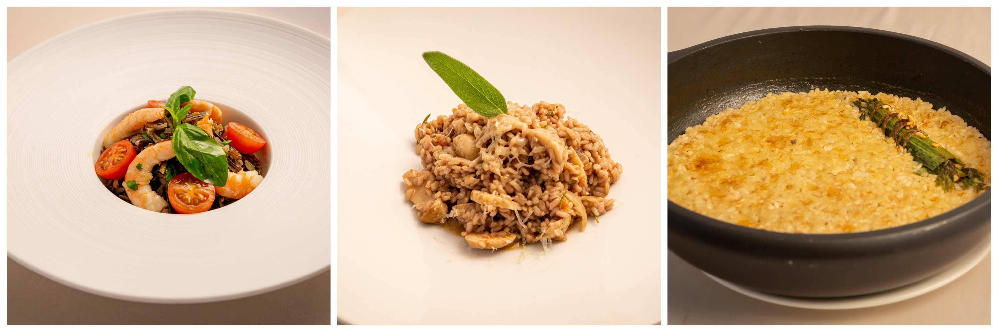 Ensalada de arroz salvaje, Risotto y arroz pilaf