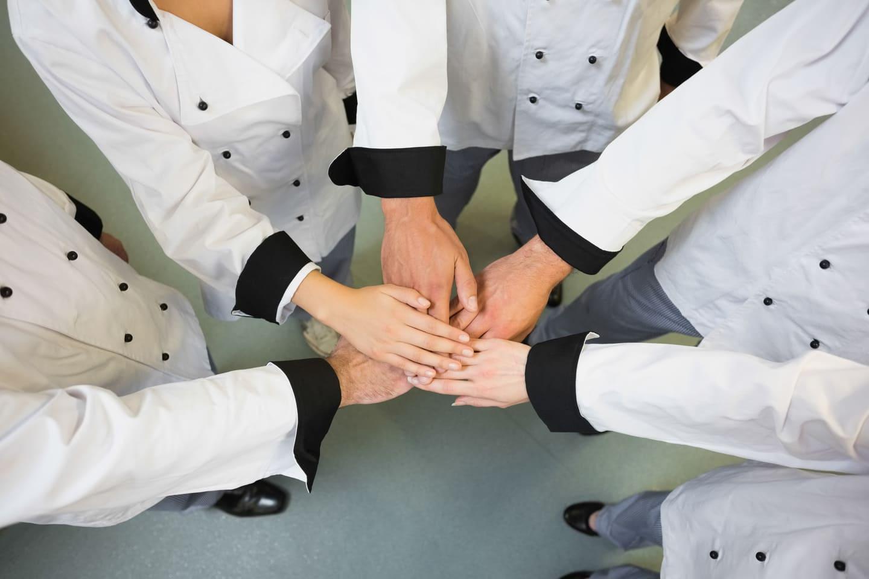 equipo motivado y unido