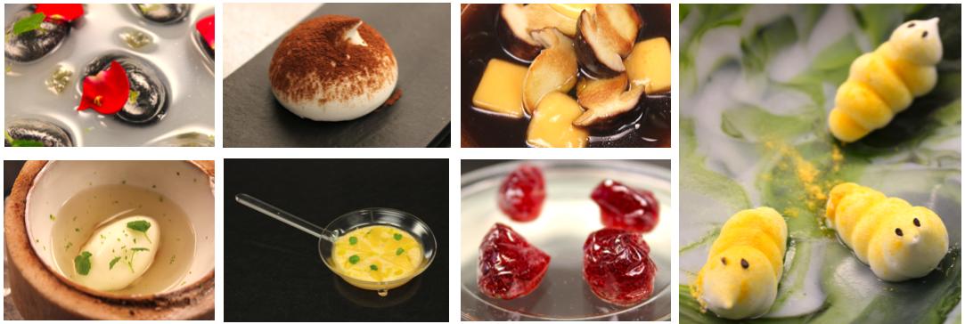 Diferentes platos realizados durante el curso
