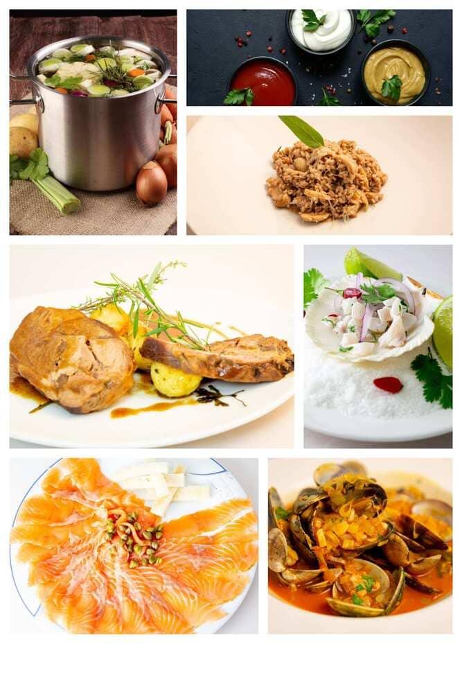 platos que se aprenderán durante el curso