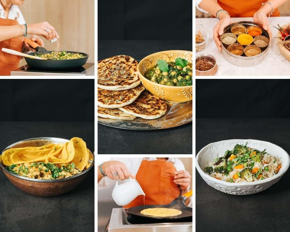 Platos de cocina india