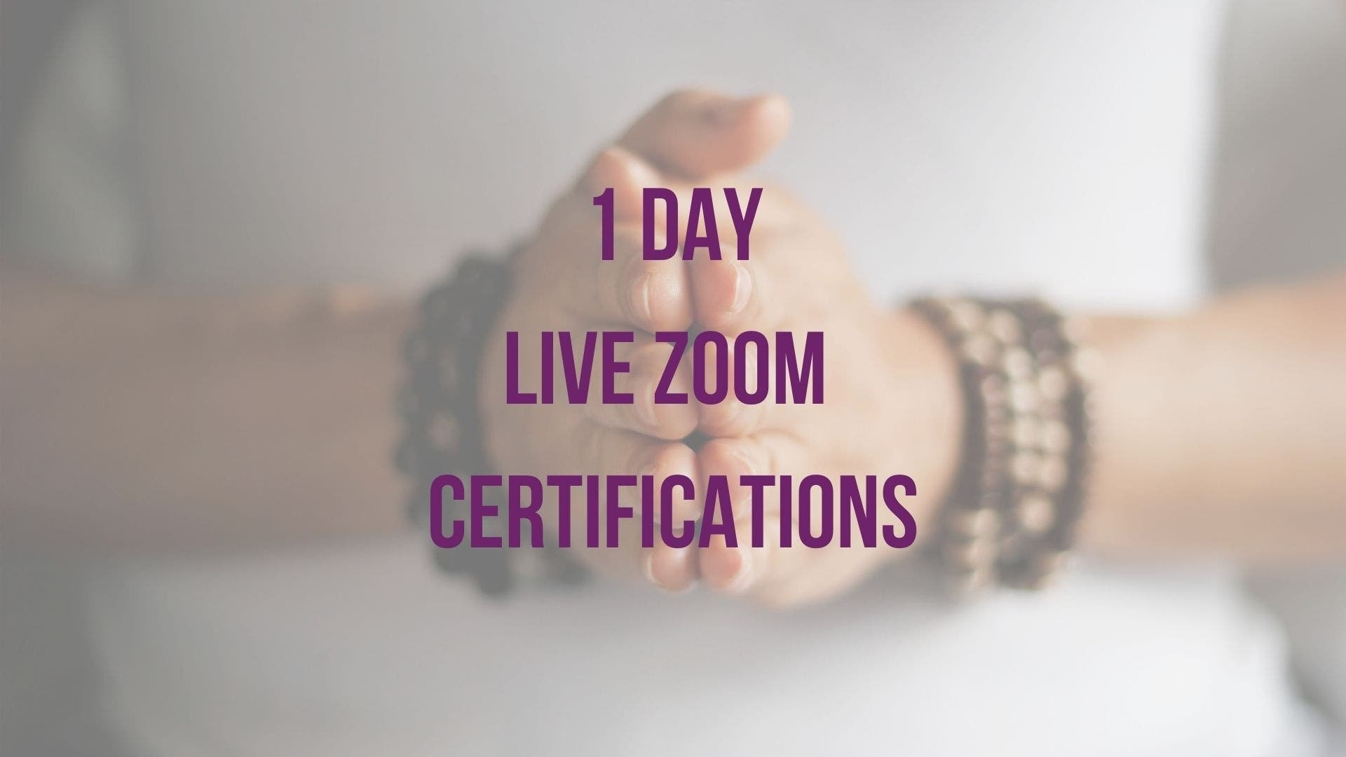 1 Day Live Zoom Certifications