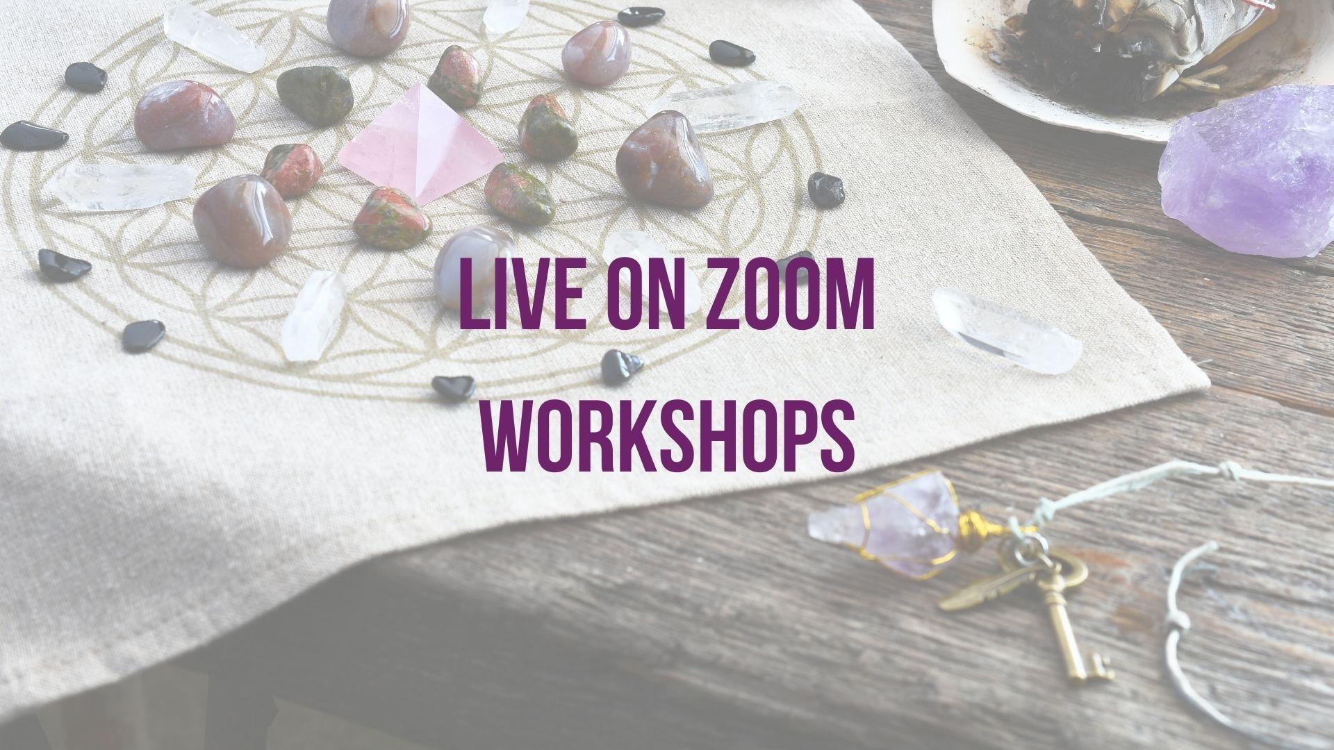 Live on Zoom Workshops