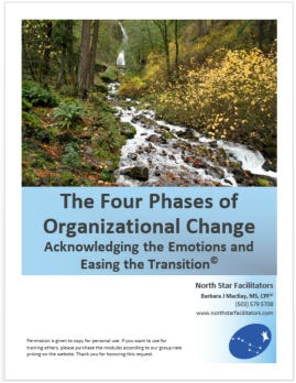 How can we help ourselves and groups face change and deal with the difficulties that change encompasses?
