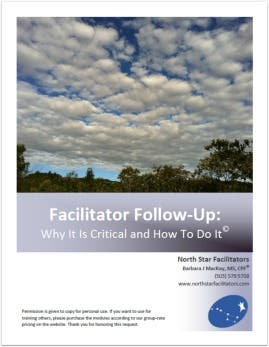 Who loses when you don't follow-up with a group with which you have worked closely?
