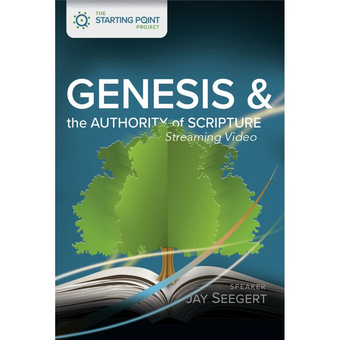 Cover for The Starting Point Project Genesis and the Authority of Scripture streaming video