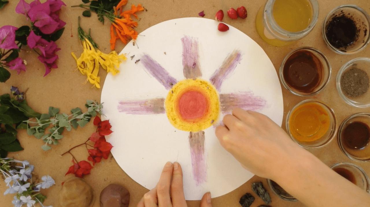 mandala, astar, art, natural pigment, flower painting