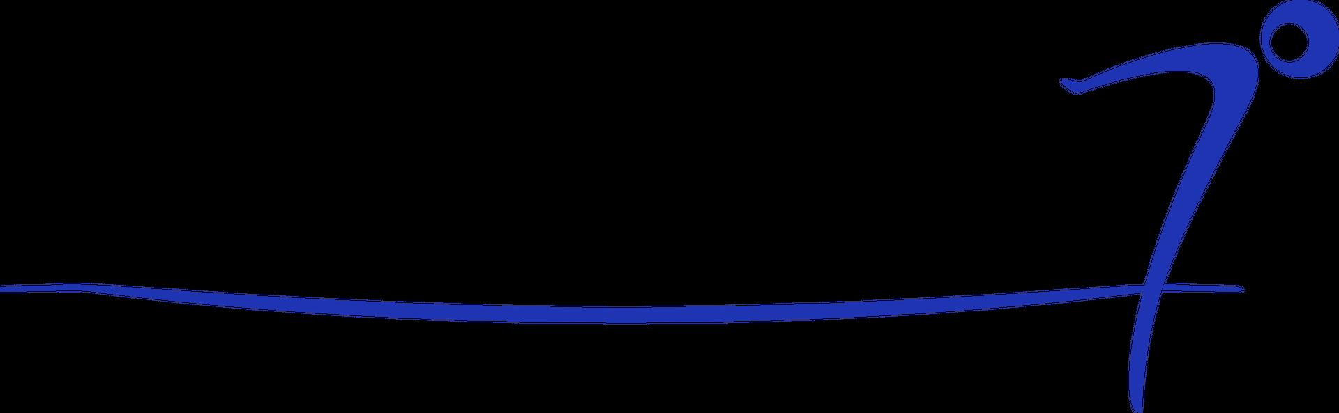 Swimsanity logo featuring a little man