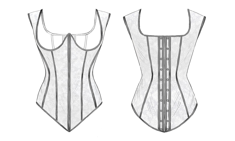 underbust corset pattern download