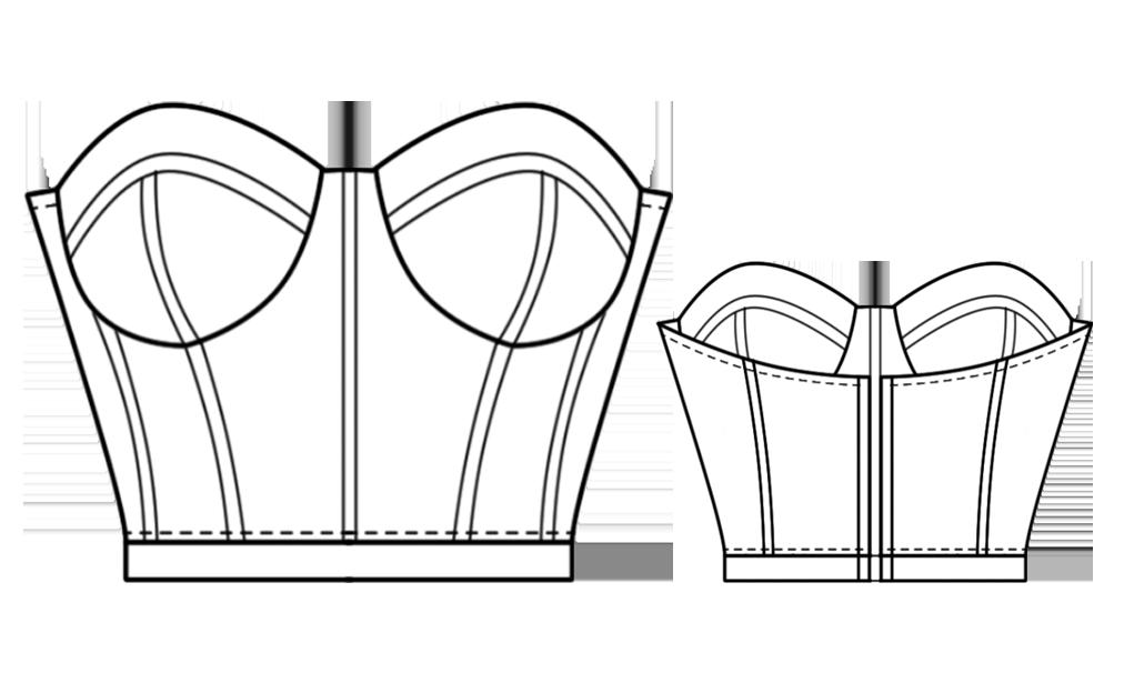 corset bustier diy