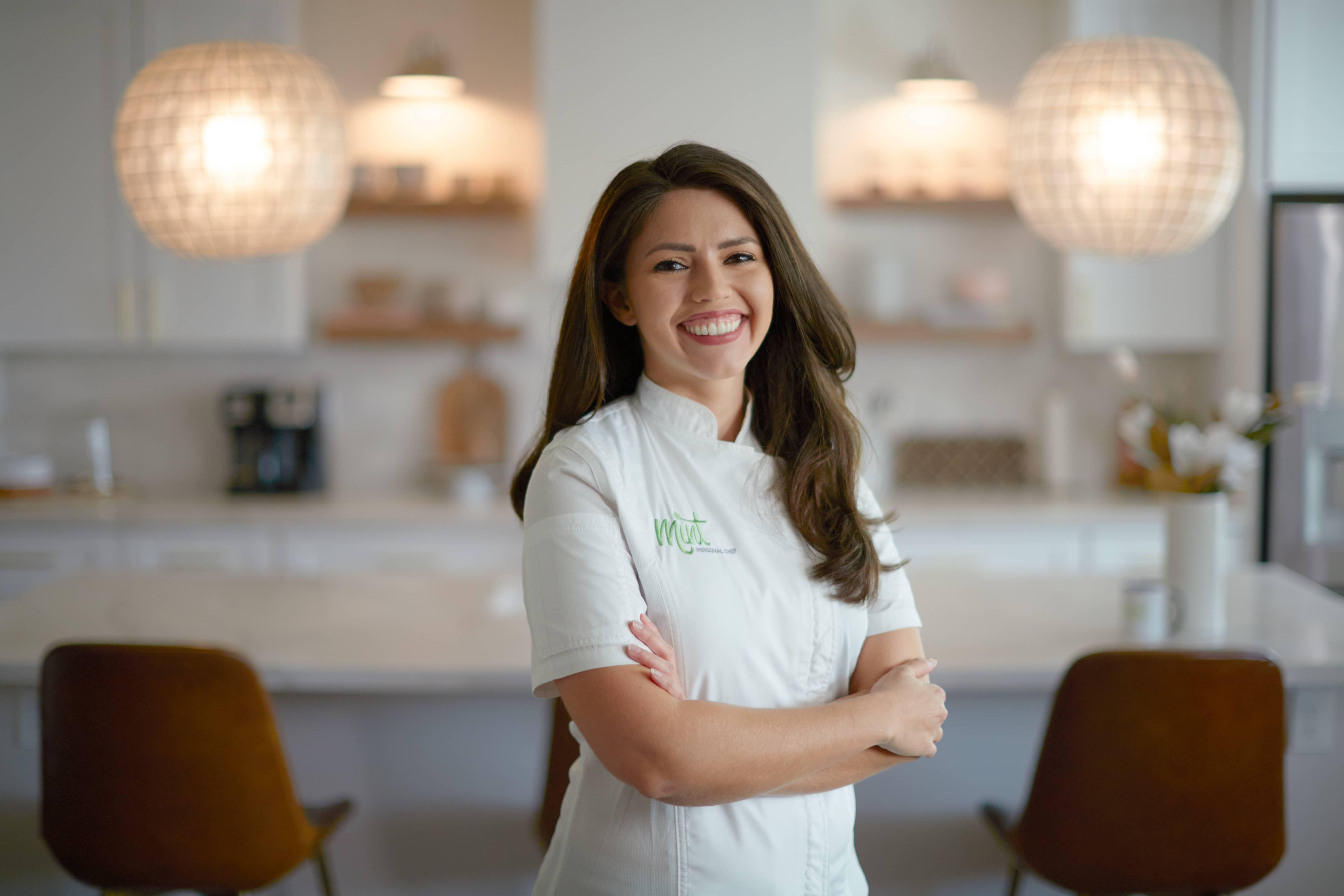 Chef Julie in kitchen