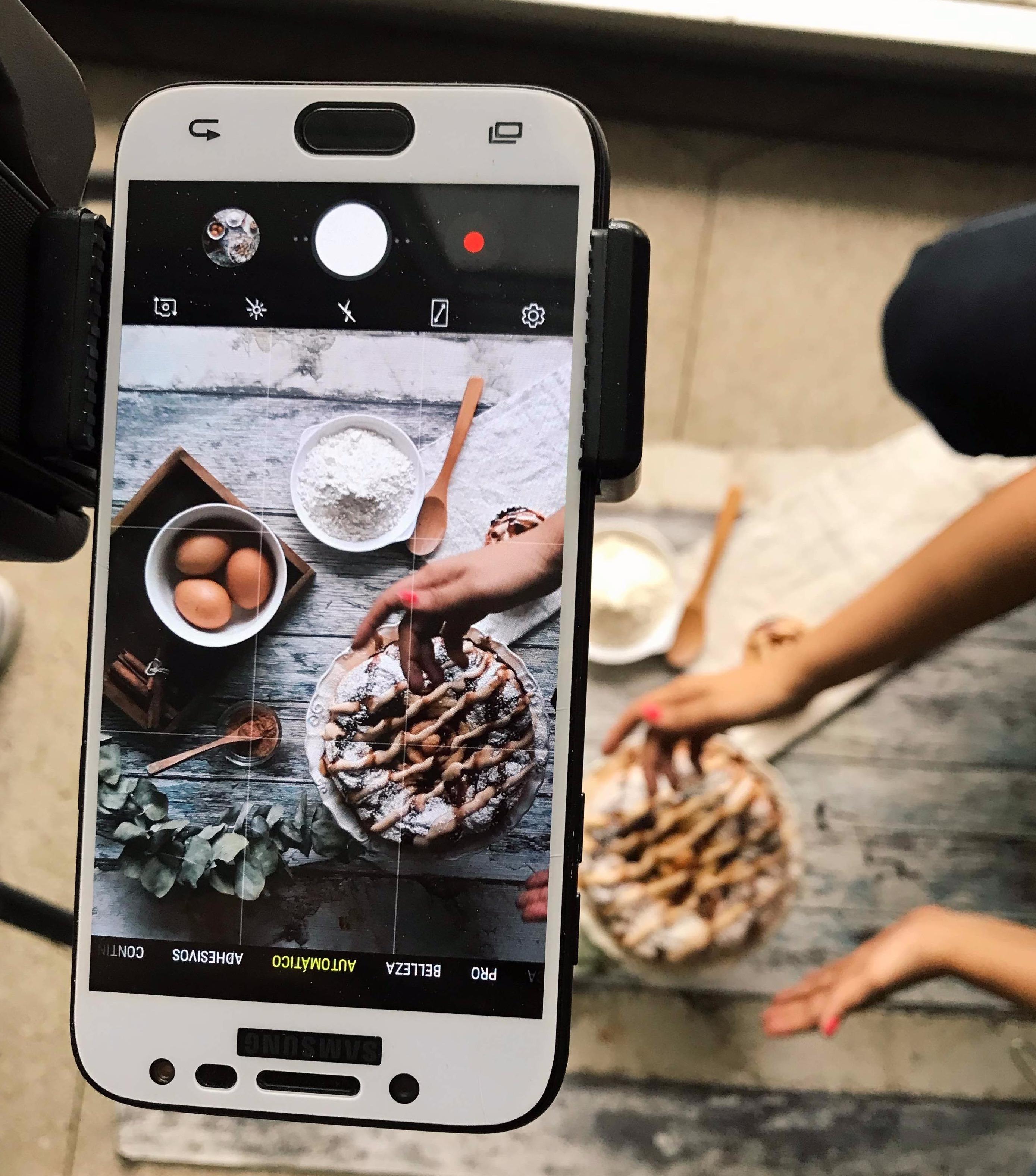 fotografia de alimentos con movil online