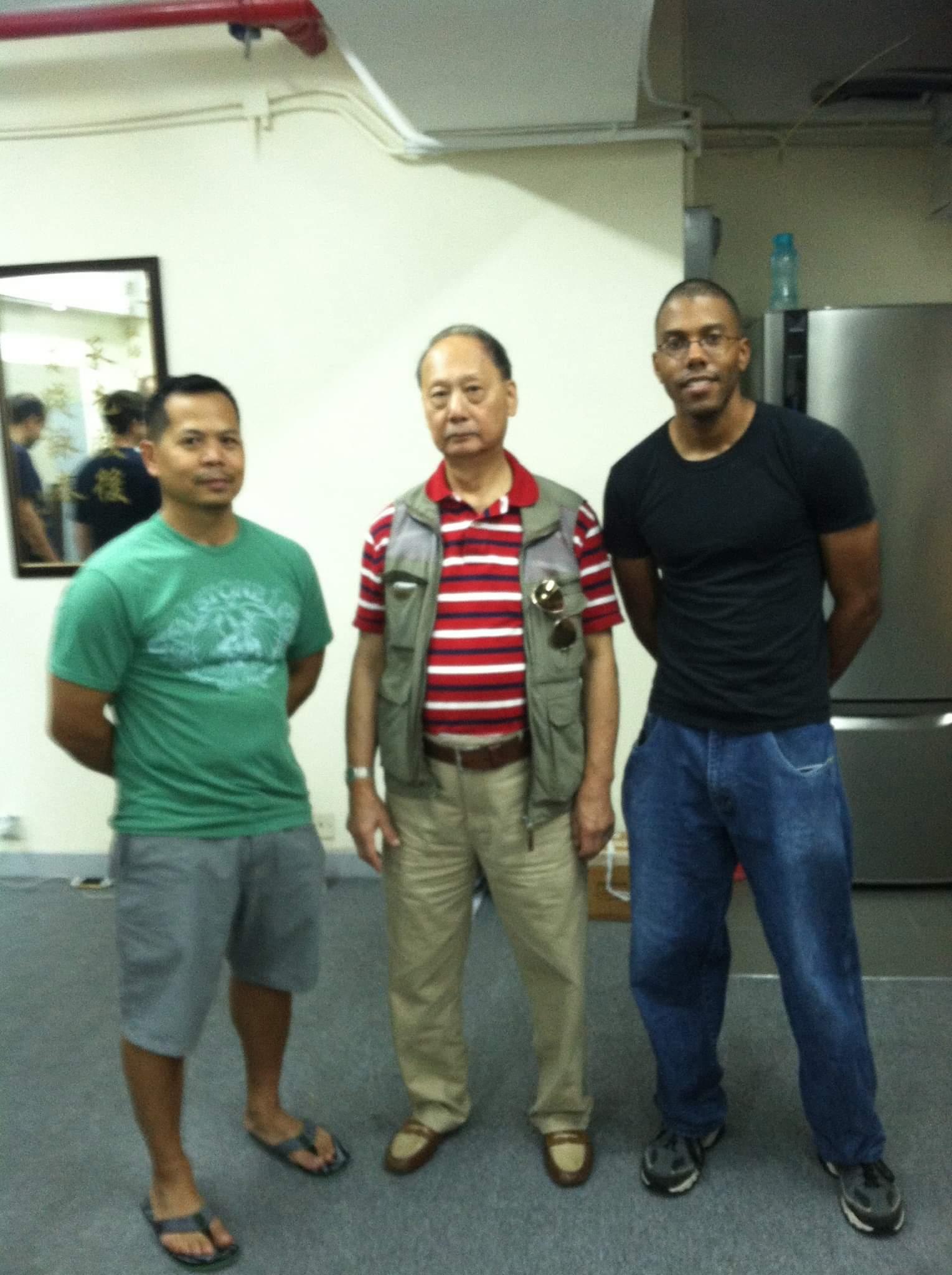 With Sigung Duncan Leung and Sifu Don Presto