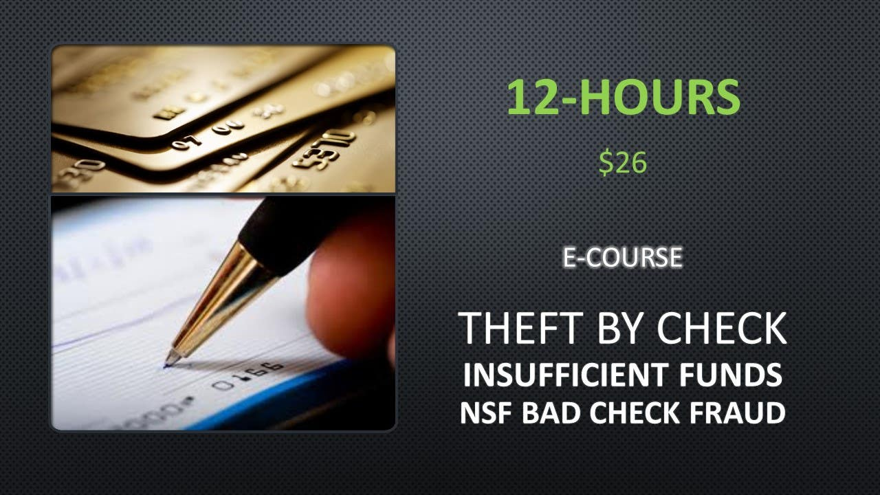 NCOei online rehabilitation education eCourse designed to develop awareness of Credit Card Fraud and NSF Check Fraud. Fraud and theft prevention education. Includes enrollment proof and personalized certificate, $40