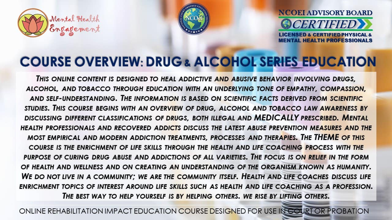 NCOei.Thinkific eCourses for Court/Probation Anger Management, Decision Making, Impulse Control, Shoplifting, Theft, Drug and Alcohol Awareness
