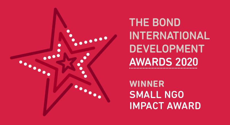 The Bond International Development Awards 2020 - Winner Small NGO Impact Award