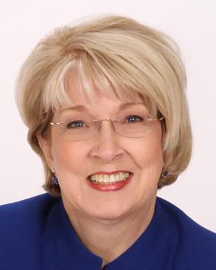 Head shot of Gail, smiling
