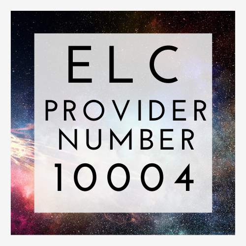 ELCAS Provider Number 10004 with space background