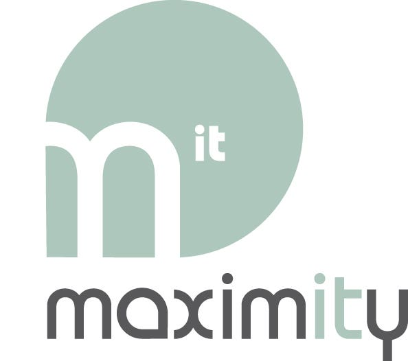 Maximity company logo