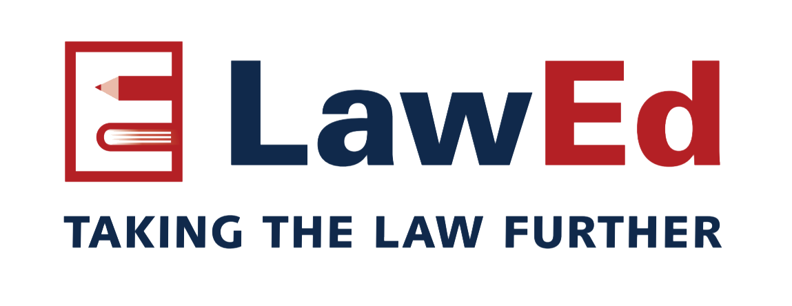 LawEd Online law course logo