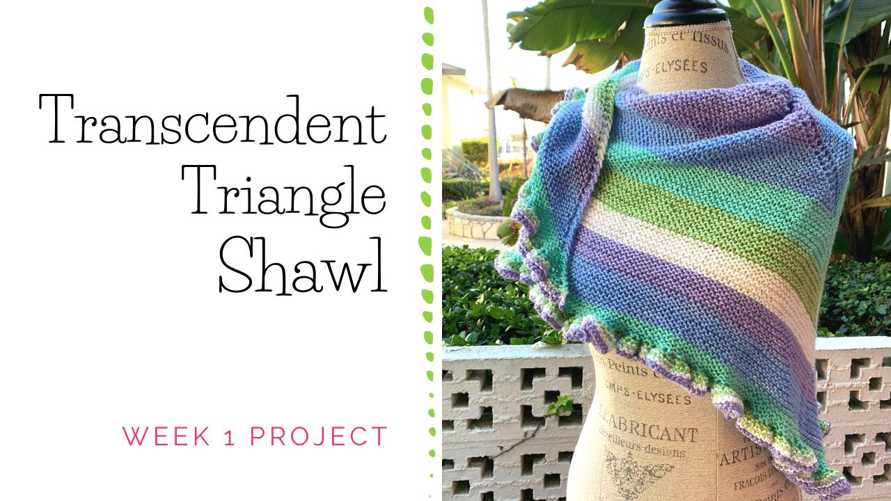 Transcendent Triangle Shawl