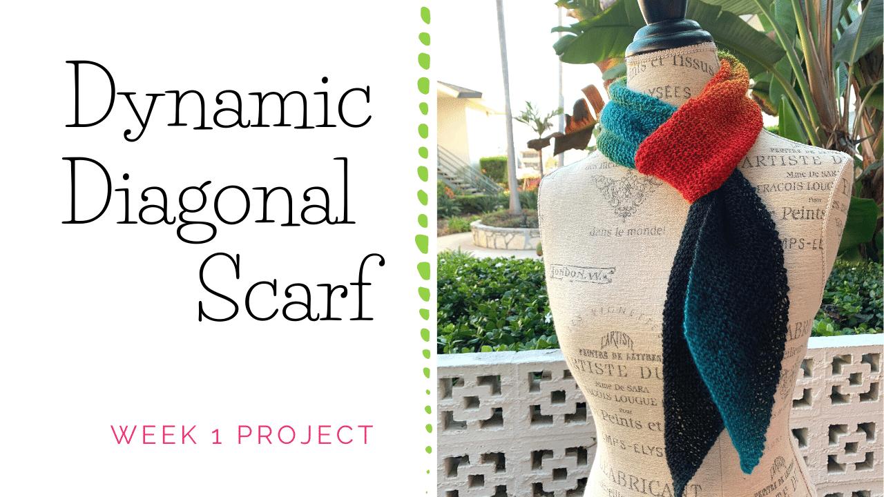 Dynamic Diagonal Scarf Knitting Project