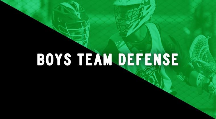 Boys Team Defense