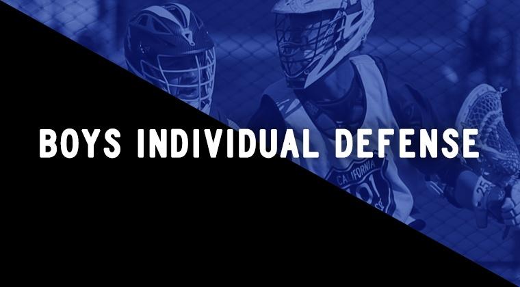 Boys Individual Defense