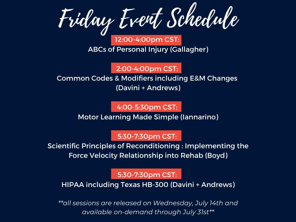 Friday-Schedule