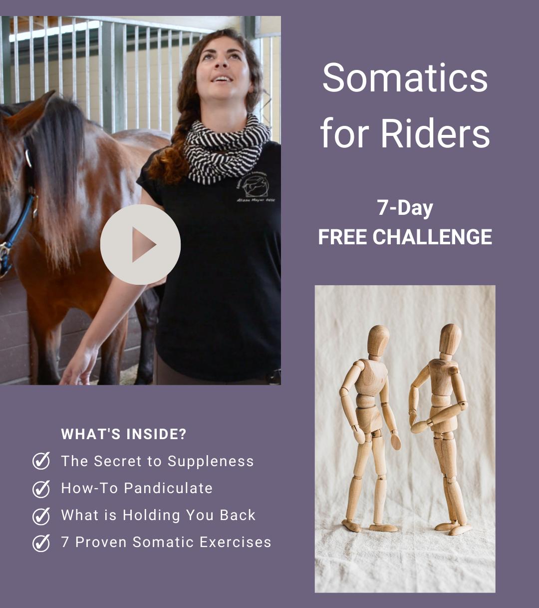 Alissa Mayer's Somatics for Riders Challenge video graphic