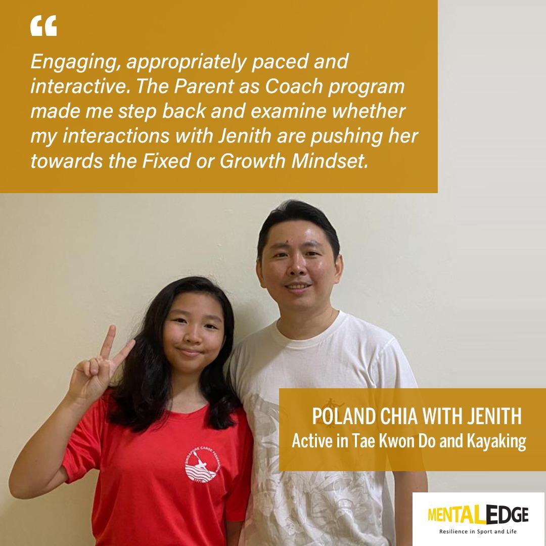 Parent Poland with daughter Jenith
