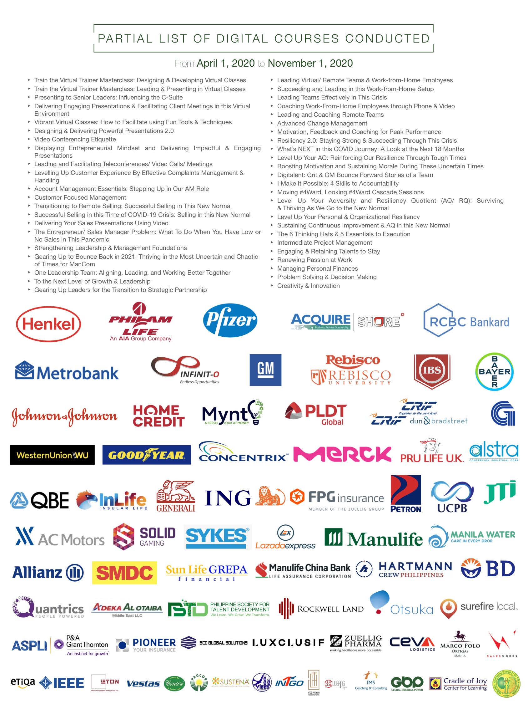 LJMB Partial List of Clients