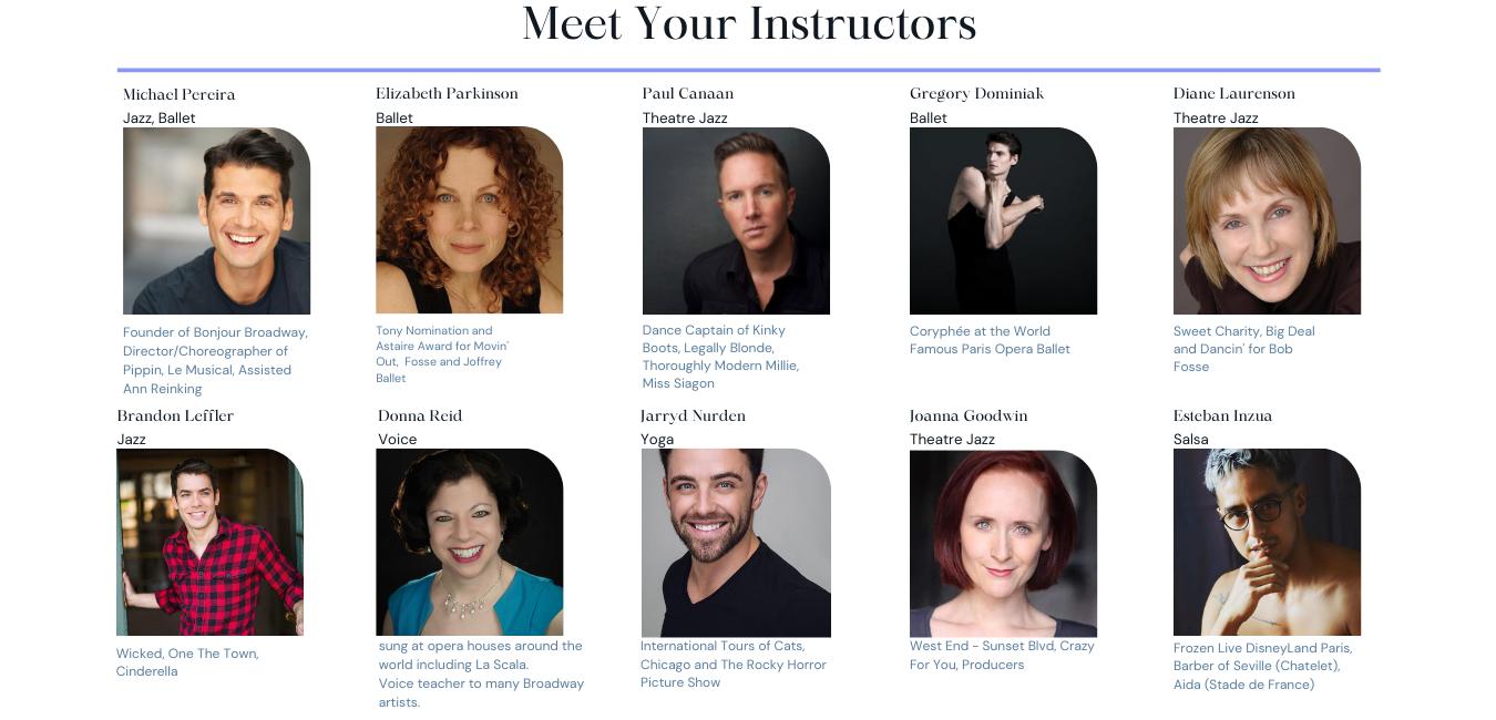 Ballet and jazz with Michael Pereira, Elizabeth Parkinson, Paul Canaan, Gregory Dominiak, Brandon Leffler, and Joanna Goodwin