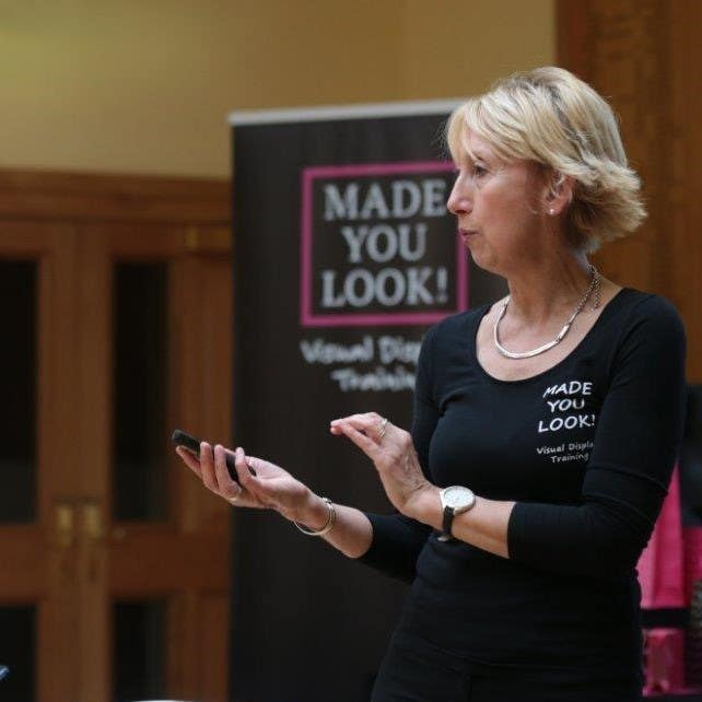 Trainer teaching at a live workshop