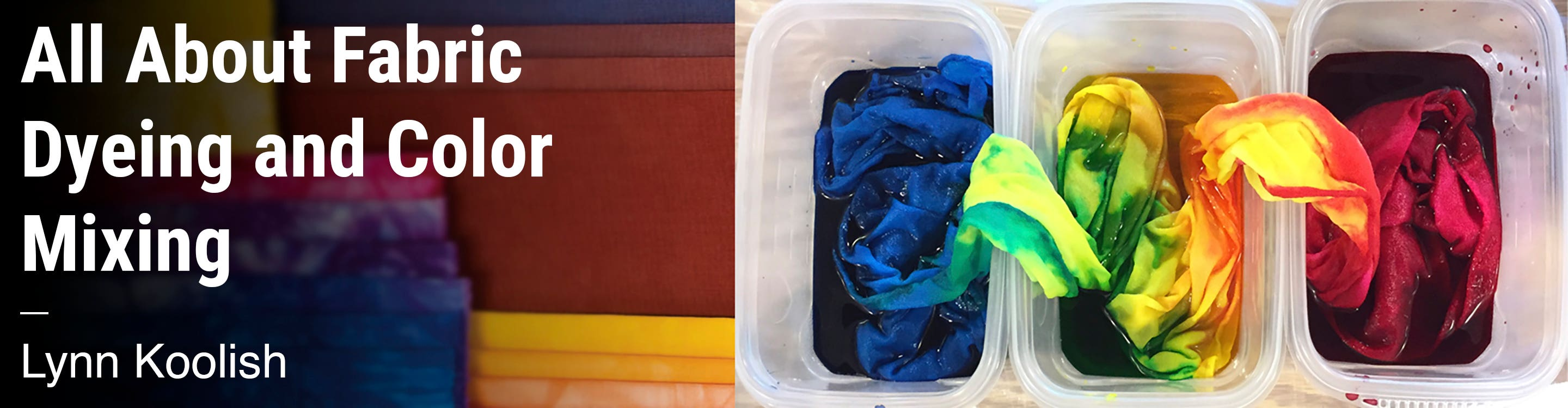 All About Fabric Dyeing and Color Mixing Lynn Koolish