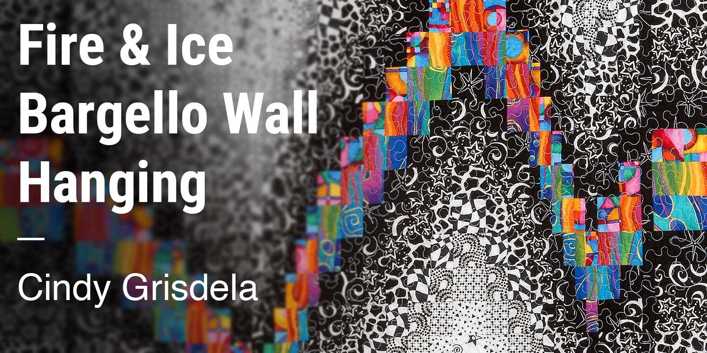 Fire & Ice Bargello Wall Hanging Cindy Grisdela