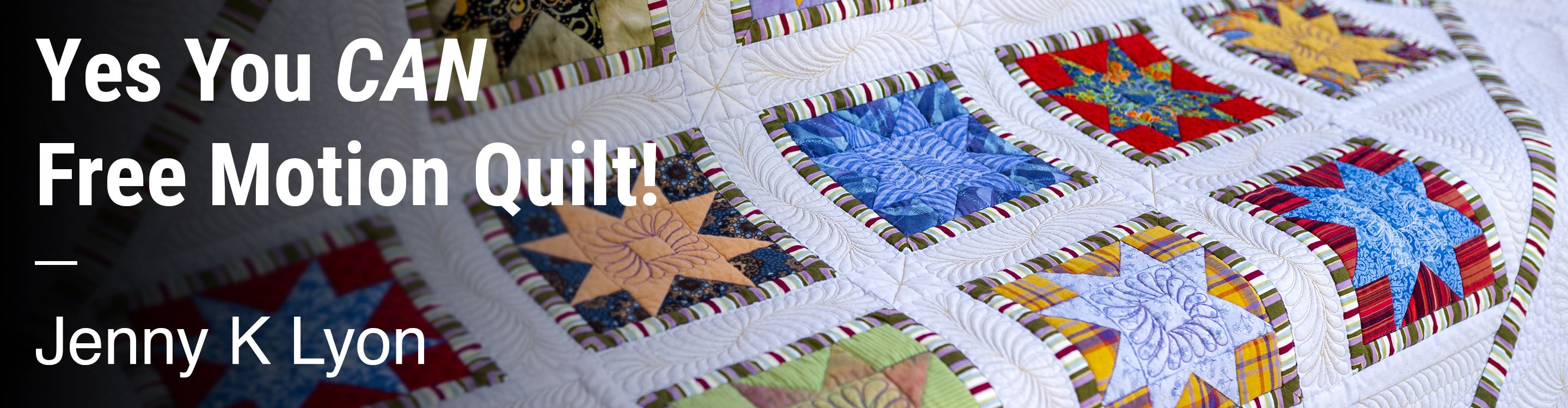 Yes You CAN Free Motion Quilt! Jenny K Lyon