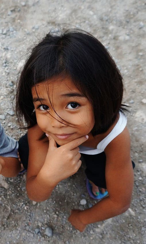 Image of smiling girl from Phillipines