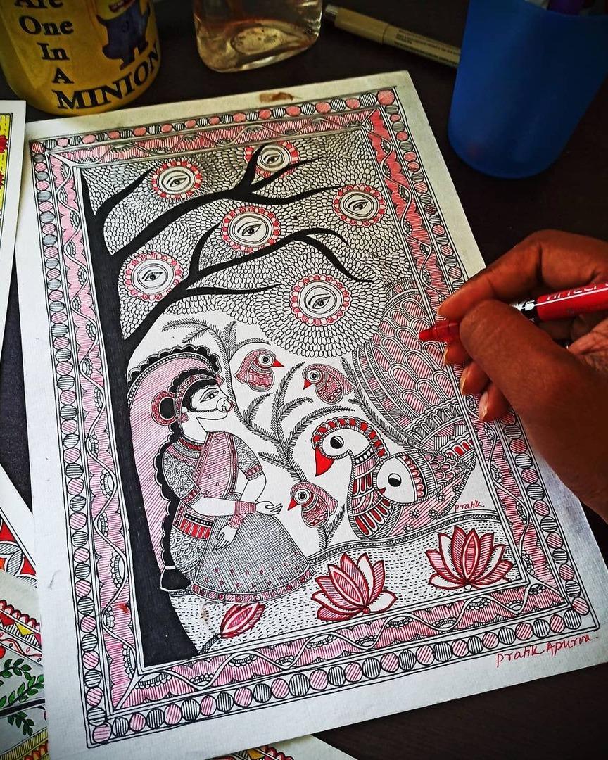 Madhubani Kachini Style Painting
