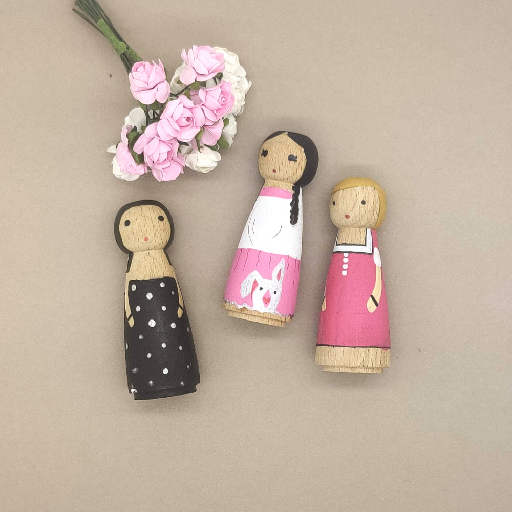 Paint your own Wooden Figurines