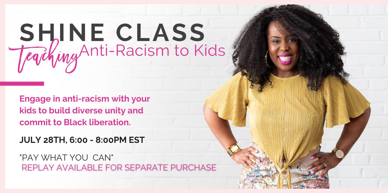 Teaching Anti-Racism to Kids Banner