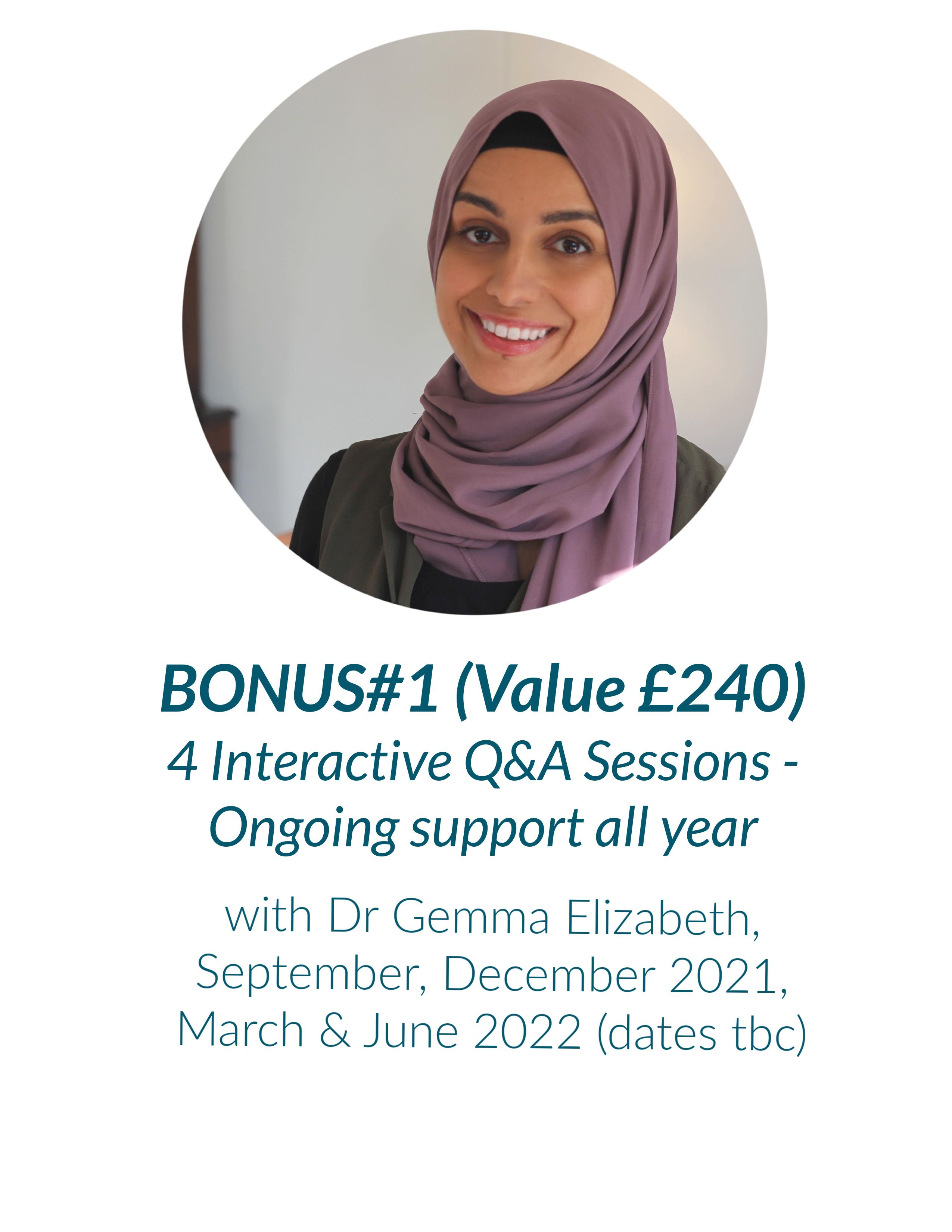 Bonus Q&As with Dr Gemma