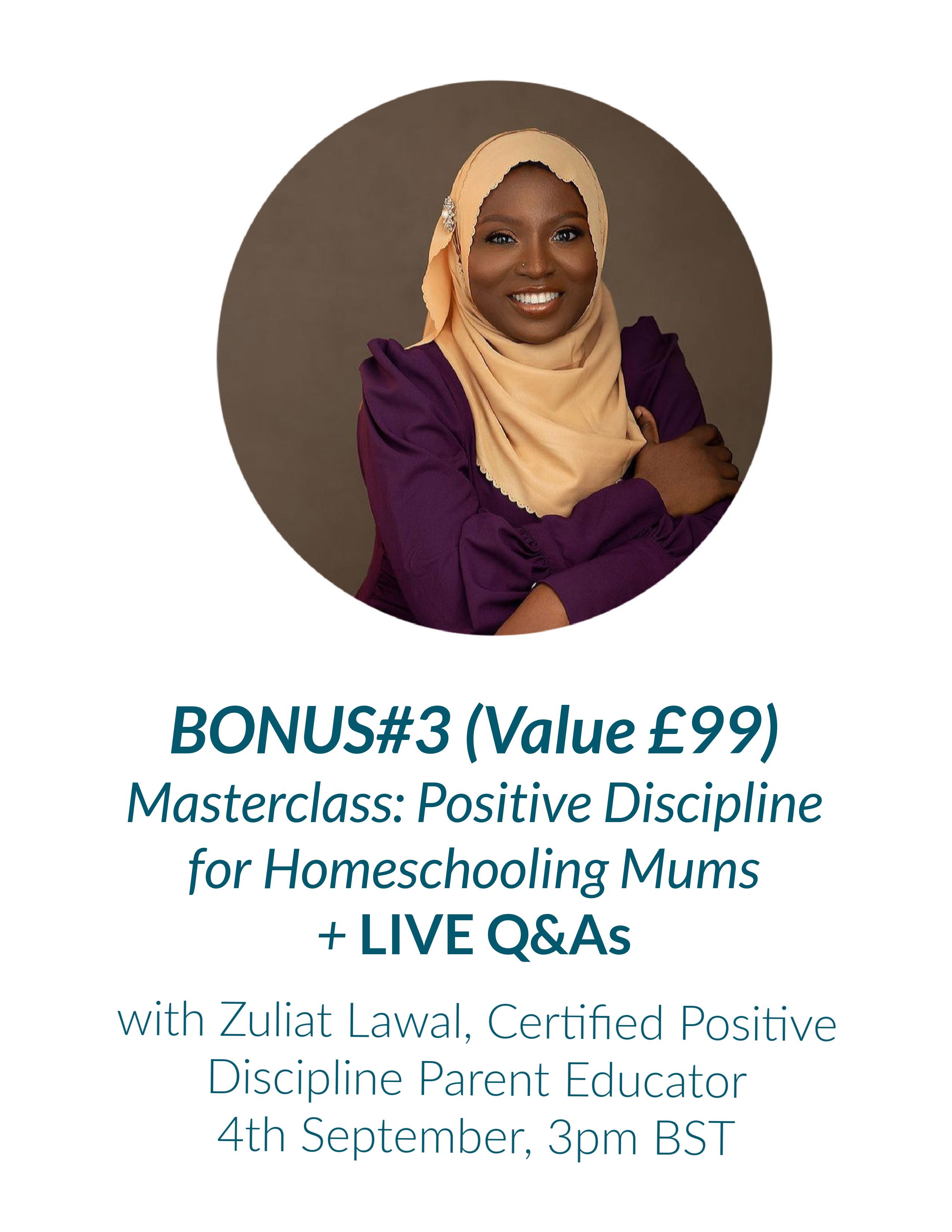 bonus masterclass with Zuliat