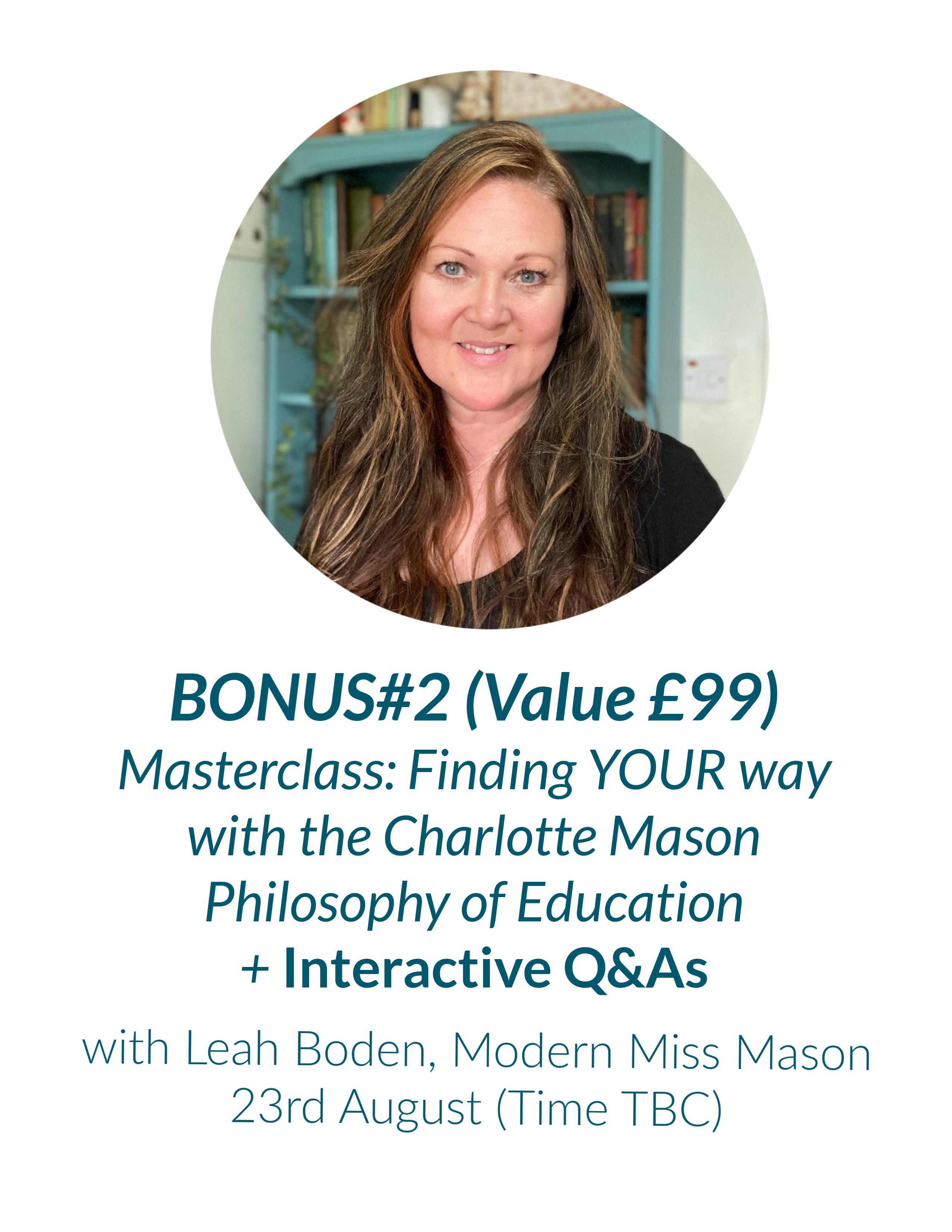 Bonus masterclass with Leah Boden