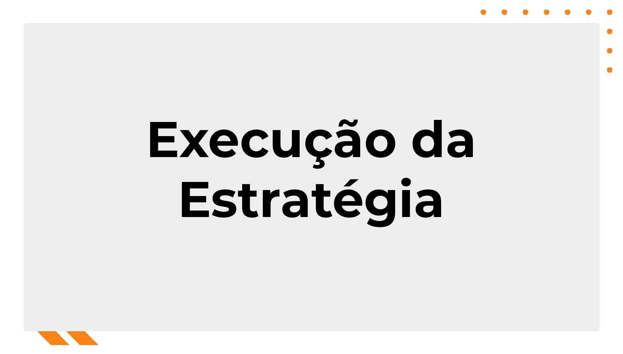 Execução da Estratégia