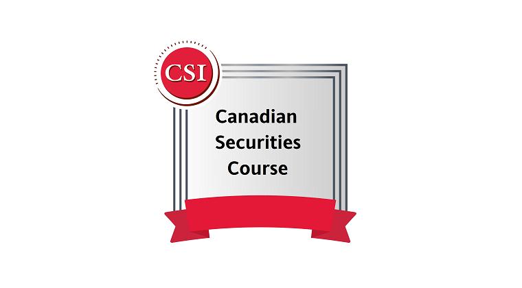 Canadian Securities Course